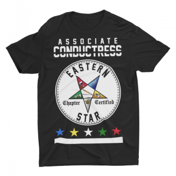 Eastern Star Chapter Certified T-Shirt – Associate Conductress
