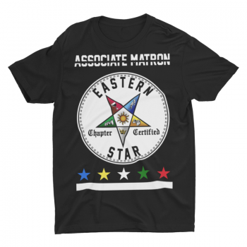Eastern Star Chapter Certified T-Shirt – Associate Matron