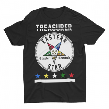 Eastern Star Chapter Certified T-Shirt – Treasurer